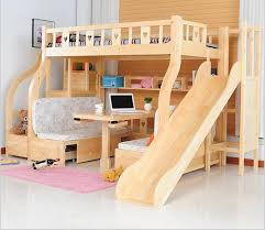 childrens beds with slides. Online Shop Children Beds Multi-function Environmental Bunk Bed Wooden With Study Desk Drawer Slides Childrens
