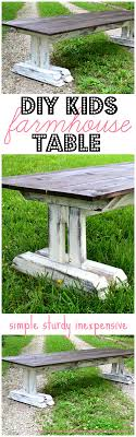 diy outdoor farmhouse table. Easy To Follow Plans Build This Adorable And Super Sturdy Children\u0027s Farmhouse Table! Diy Outdoor Table I