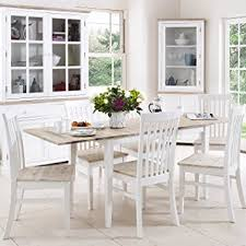 florence extending table and 6 chairs set kitchen dining table and chair set in white
