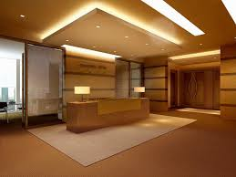 false ceiling for office. Reception Hall With False Ceiling 3d Model Max 1 For Office