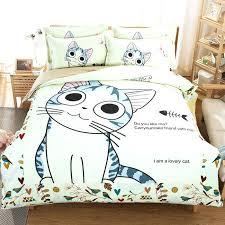 crazy bedding sets home textiles cartoon cotton lovely cat sheet set with duvet kitty bedding set