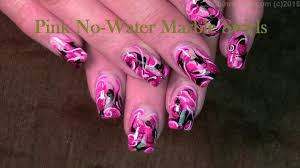 Hot pink water marble nail art(without water) - Video Dailymotion