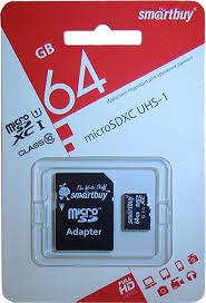 <b>Карта памяти</b> SmartBuy microSDXC Class 10 UHS-I U1 ...