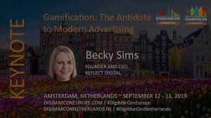 Gamification The Antidote to Modern Advertising - Becky Sims, Reflect  Digital - YouTube