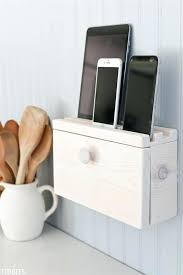 diy charging station multi device and cord organizer