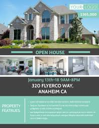 Home Flyers Template Anaheim Real Estate Open House Flyer Template