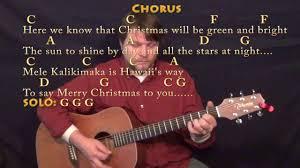 Hawaiian Slack Key Guitar Chord Chart Mele Kalikimaka Christmas Guitar Lesson Chord Chart In C With Chords Lyrics