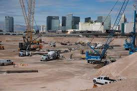 the site of the future raiders stadium in las vegas friday march 9