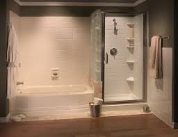 separate tub and shower options