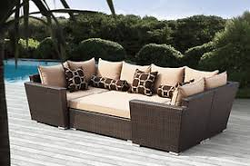Outdoor Wicker Patio Furniture 6pc Sofa Seating Set W Sunbrella
