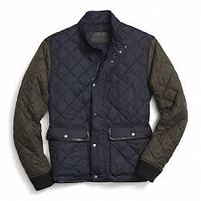 COACH F84851 - QUILTED JACKET - NAVY/OLIVE - COACH MEN & COACH f84851 QUILTED JACKET NAVY/OLIVE Adamdwight.com