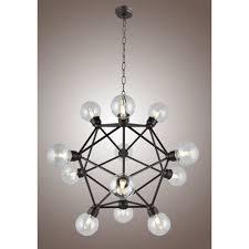 axis chandelier sputnik lamp smoke crystal bar orbit chandelierceiling lights
