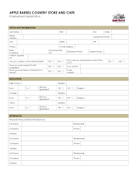Job Application Retail Job Application Form Hot Topic For How To