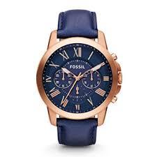 fossil men s watches shop the best deals for 2017 fossil men s fs4835 grant analog quartz blue watch
