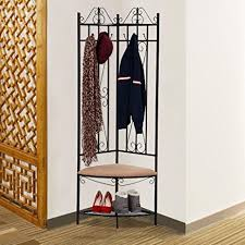 Coat Rack Hallway Amazon Go100buy Black Finish Entryway Coat Rack Hallway Bench 100