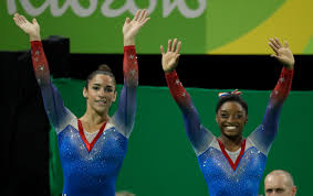 united states simone biles gold medal winner and silver medallist and patriot aly