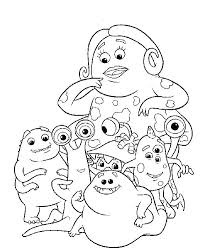 Monster Inc Coloring Page Monsters Inc Coloring Page Monster Cute