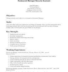 Mcdonalds Manager Resume Shift Manager Resume Restaurant