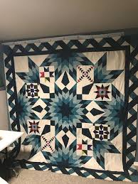 5 Stunning Blazing Star Quilts Made by Craftsy Member & Hanging Blazing Star Quilt Adamdwight.com