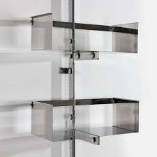 library unit furniture. a chromed steel library unit designed by vittorio introini 3 furniture