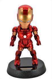marvel avengers 5 inch iron man solar powered bobble head action relaxation toy for car home office limited edition walmart