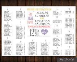 Free Digital Seating Chart Wedding Seating Chart Rush Service Typography Modern