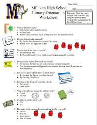 Library-Orientation-Millikan-High-School - Worksheet 1