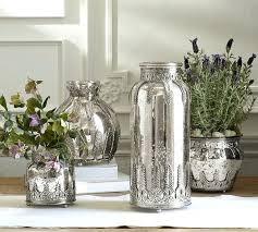 pottery barn mercury glass eggs bud vase votives