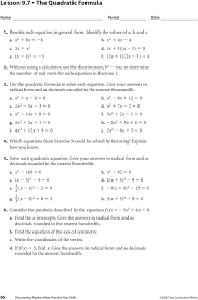 give your answers in radical form and as decimals rounded to the nearest thousandth a 7 lesson 9 8 cubic functions 1 write and solve an equation to find