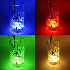 Lights For Glass Vases Us 1 5 1 Glass Hookah Shisha Multicolor Lamp With Remote Waterproof Led Submersible Light For Wedding Party Decoration Glass Vase Light In Holiday
