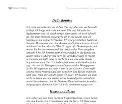 daily routine german gcse modern foreign languages marked document image preview