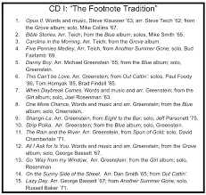 Albums Best Of The Footnotes Lps Tradition Princeton Footnotes