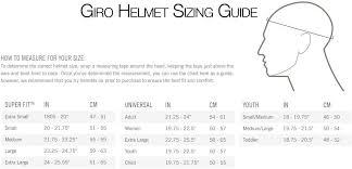 Giro Helmet Size Guide