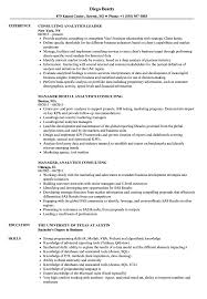 Consulting Resumes Examples Analytics Consulting Resume Samples Velvet Jobs 45