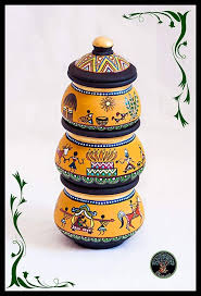 pottery painting painted pottery painting patterns fabric painting worli painting rajasthani art indian folk art terracotta pots pottery designs