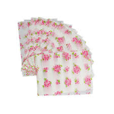 Wax Paper Flower Details About 50pcs Flower Print Waterproof Dry Wax Paper Candy Cookie Wrapping Tissue