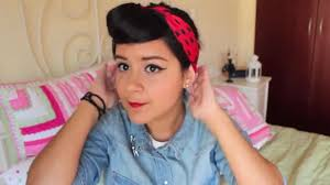 hair and makeup for rosie the riveter costume