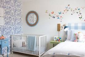 baby boy accent walls love this baby boy room decor with blue and white wallpaper