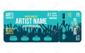Concert Ticket Template Concert Party Or Festival Ticket Design