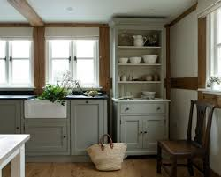grey painted kitchen cabinetsKitchen  Country Grey Kitchen Cabinets With Black Countertop