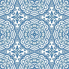 Blue Pattern Background Gorgeous Seamless Blue Retro Pattern Background By Epic48 GraphicRiver