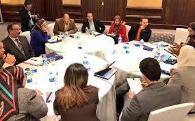teams divided to discuss the three themes undp egypt fatma elzahraa yassin