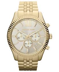 michael kors men s chronograph lexington gold tone stainless steel michael kors men s chronograph lexington gold tone stainless steel bracelet watch 45mm mk8281