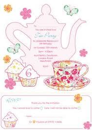 Tea Invitations Printable Free Blank Tea Party Printable Tea Party Tea Party Invitations