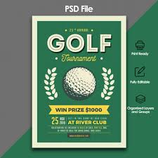 Golf Tournament Flyer Template Golf Tournament Flyer Template Psd File Premium Download