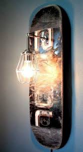 DIY skateboard lighr bulb lamp