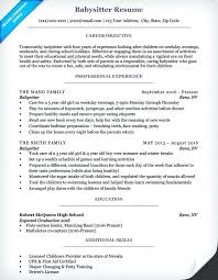 Babysitter Resume Sample Babysitter Resume Babysitting Experience