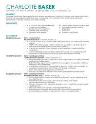 Sales Resume Example Of Retail Sales Resume Retail Sales Sample