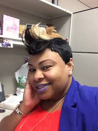 Kandi Burruss Bob Hairstyles Quick Weave With Platinum Blonde Bang 14 Inches Length In Back