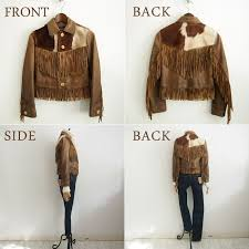 ralph lauren double aurel las lamb leather fringe jacket and brown rrl by ralph lauren leather